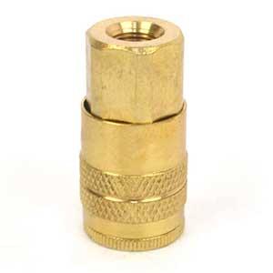 "1/4"" Industrial Brass Coupler x 1/8"" Female NPT"