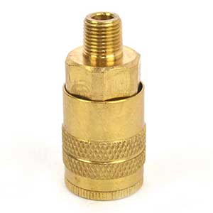 "1/4"" Industrial Brass Coupler x 1/8"" Male NPT"