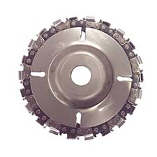 """EZ install 4"""" 22 Tooth Fine Cut Grinder Disc and Chain - 5/8..."""